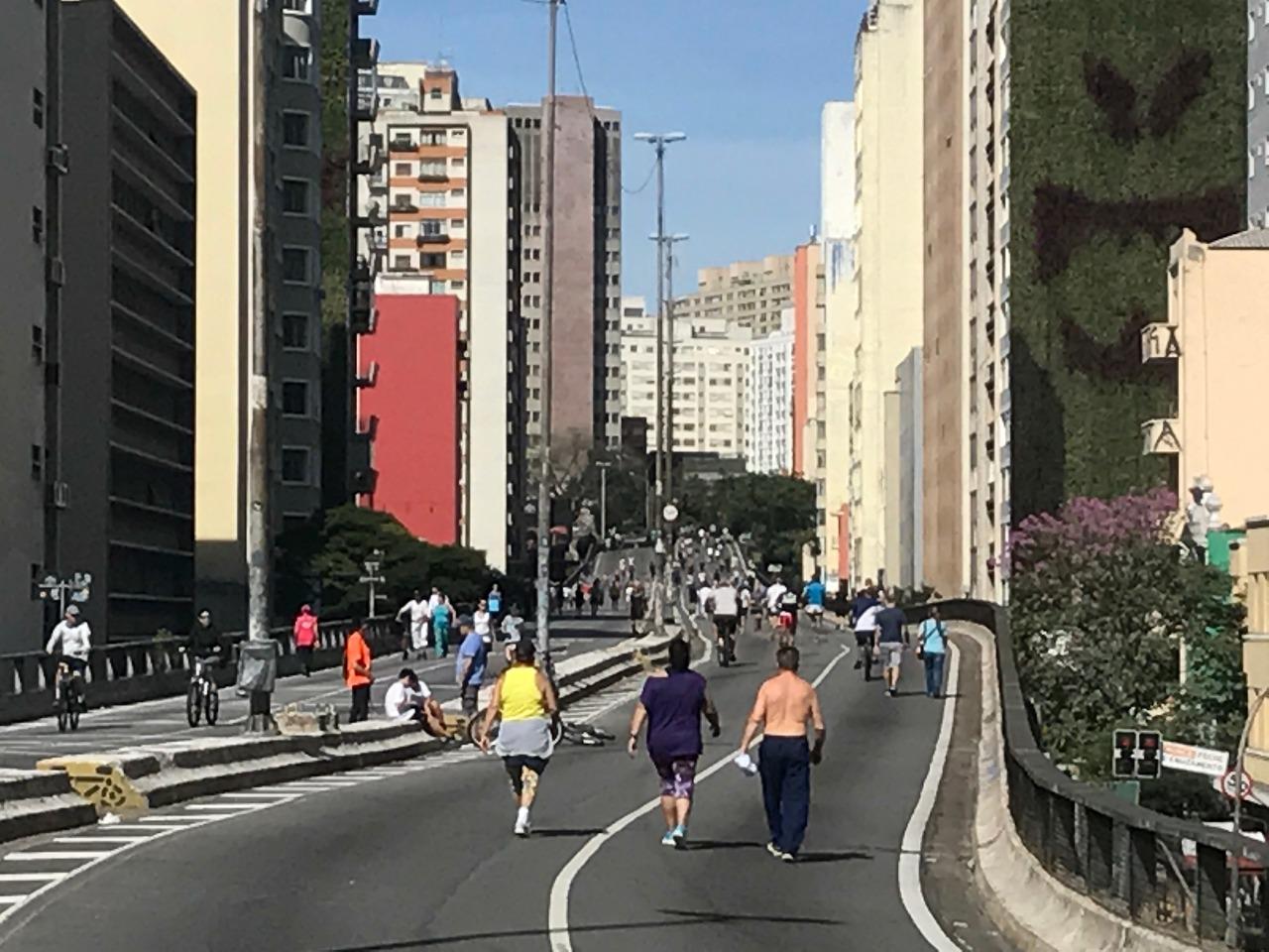 Projeto de doutorado avalia a prática de atividade física no tempo livre de lazer no elevado presidente João Goulart (Minhocão)