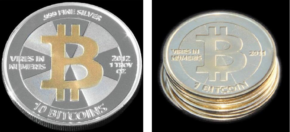 Moeda Física de Bitcoin. Fonte: Casascius