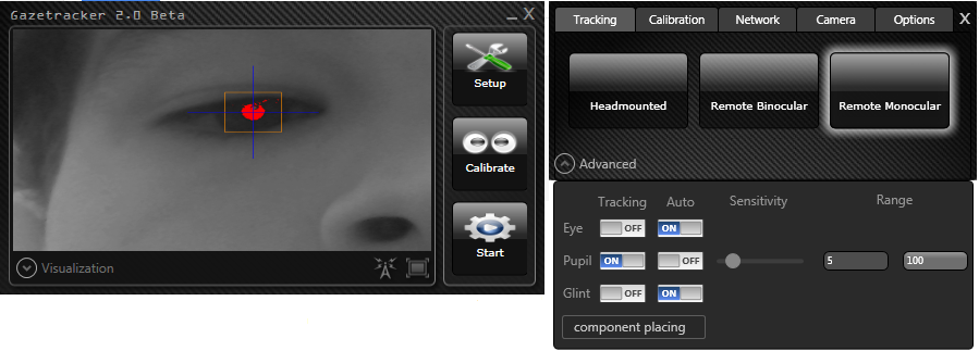 Aplicações Utilizando Gaze Tracker